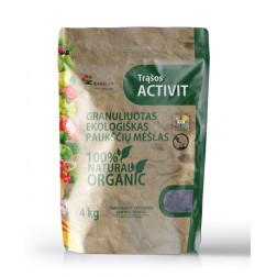 Organinės granuliuotos ekologiškos trąšos Activit 4kg