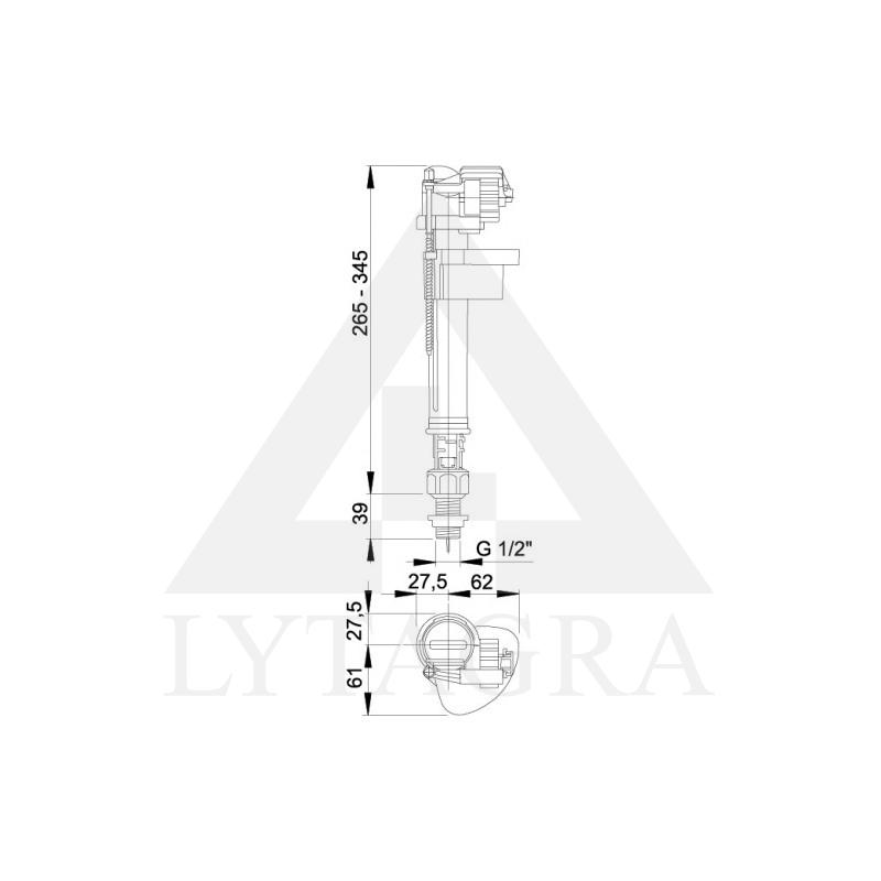 A17 1/2 Vandens pripildymo mechanizmas