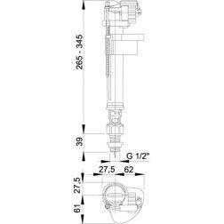 A18 1/2 Vandens pripildymo mechanizmas