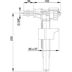 A16 3/8 Vandens pripildymo mechanizmas