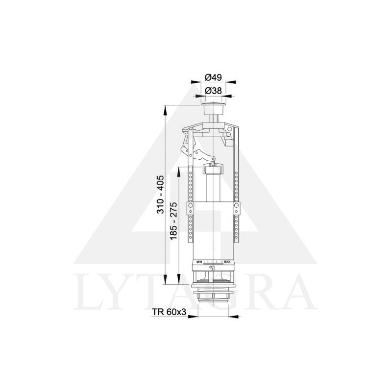 A2000 vandens nuleidimo mechanizmas su STOP funkcija