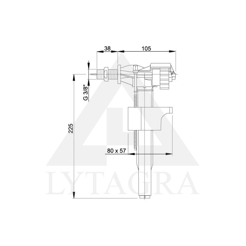 A15 3/8 Vandens pripildymo mechanizmas