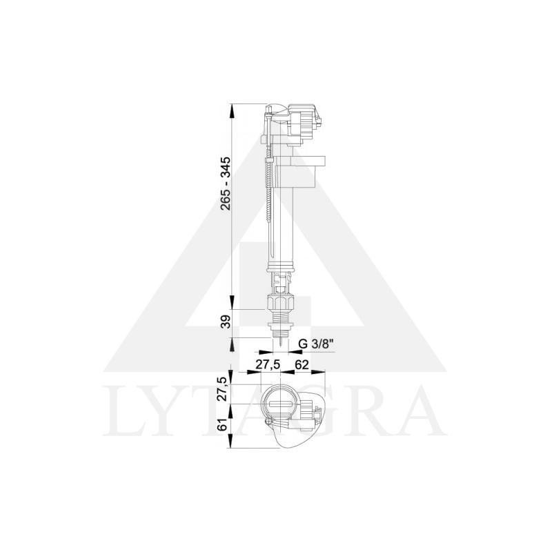 A17 3/8 Vandens pripildymo mechanizmas
