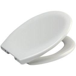 Dangtis klozeto 45 x 37 cm Soft Touch lėtai užsidarantis iš plastiko baltas Duschy