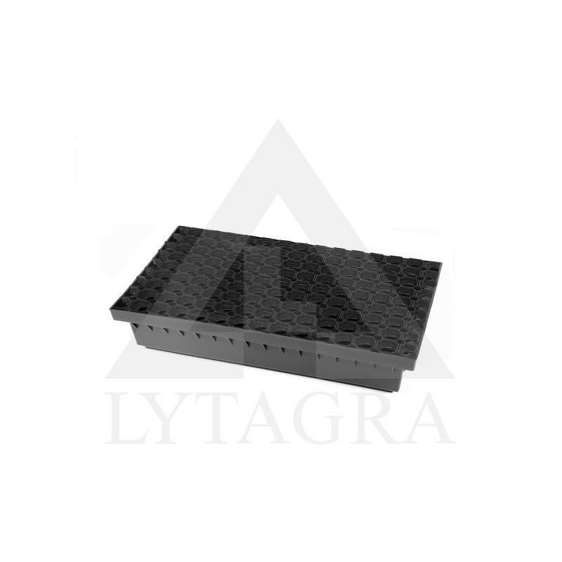 BIELBET Batų valymo vonelė 600x400x100 su plastikinėmis gumuotomis grotelėmis
