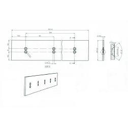 Greiderio peilis dvipusis 1525x220x12 HRC50 1,52m.