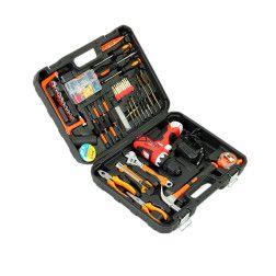 Įrankių ir akumuliatorinio gręžtuvo rinkinys Dualvolt G8109, 120 dalių