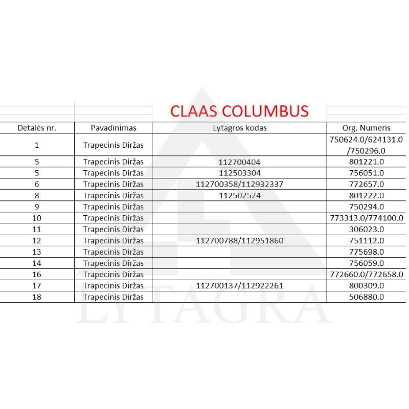 Diržas HARVEST BELTS B/H-3040 CL 801222.0