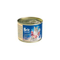 Konservai katėms Brit By Nature su vištiena
