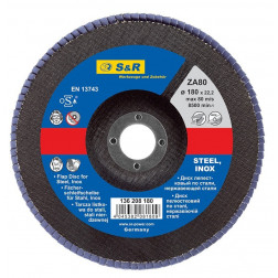 136108125 Žiedl.šlif.diskas 125x22.2 / A80 / S&R