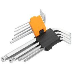 Šešiakampių raktų kompl. 9vnt.1.5-40mm 20053 / Tol